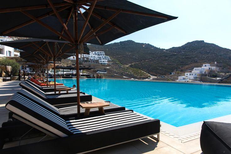 Enjoy a dive in Myconian Villas' infinity pool!