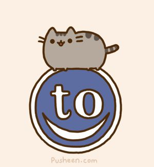 Pusheen bouncing on Tastefully Offensive's logo. :)