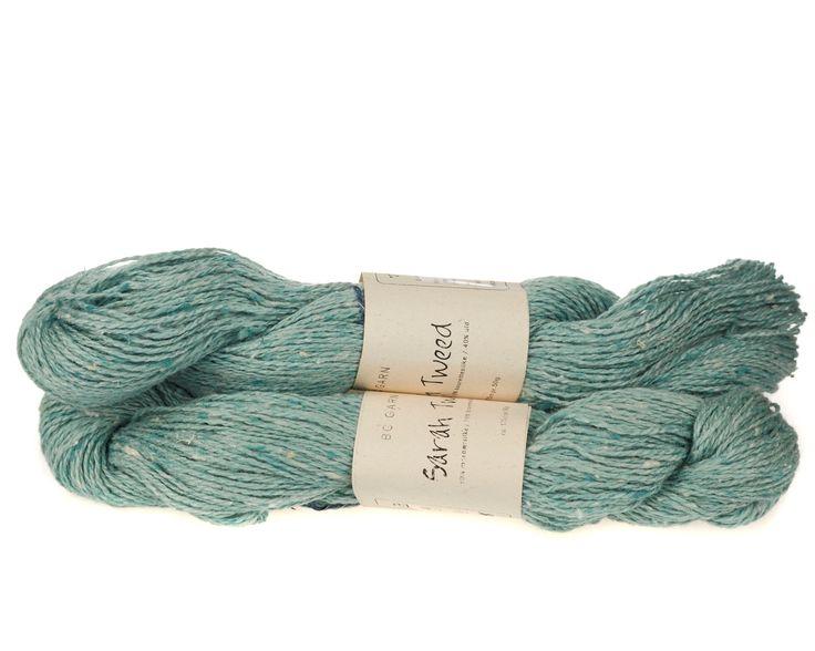 Sarah Tweed lækkert uld / silkegarn - Turkis - 59 kr. per fed á 50 gram
