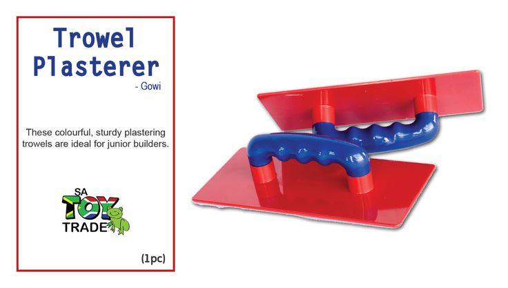 These colourful, sturdy plastering trowels are ideal for junior builders. The handle is designed for little hands to use with ease, making it the perfect toy to enhance imaginative role play. Towel Plasterer can be used in the sandpit or on the beach. Size : 17.5 x 7.7cm. For ages 12 months+.