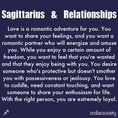 Sagittarius and relationships. It honestly is so true