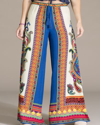 Wide Leg Palazzo Pants - dark blue – Bohemian Tapestry