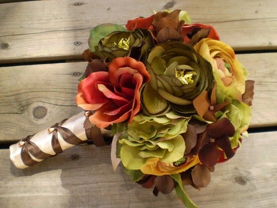 Beautiful Bridal: Fall Silk Wedding Bouquets: Fall Wedding Bouquets, Fall Bouquets, Beautiful Bridal, Silk Wedding Bouquets, Fall Silk, Color Combinations, Wedding Flower, Bedrooms Color Schemes, Fall Flower