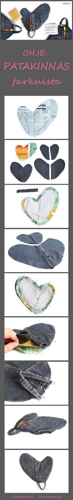 Ompeluohje: Patakinnas farkuista. http://www.haaraamo.fi/