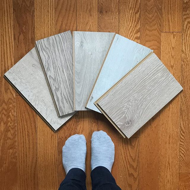 Scope creep: when you have to pick flooring for a single room and decide you want to change the flooring for the entire floor. Thats what has happened with #ProjectCraftsDept link in my bio  Heres the pretty options from @beaulieu.canada. We made our choice and the craft room floor is in. Just in time because cabinets are arriving this week!! #DIY #basementremodel #renovationproject #ihavethisthingwithfloors #sponsored