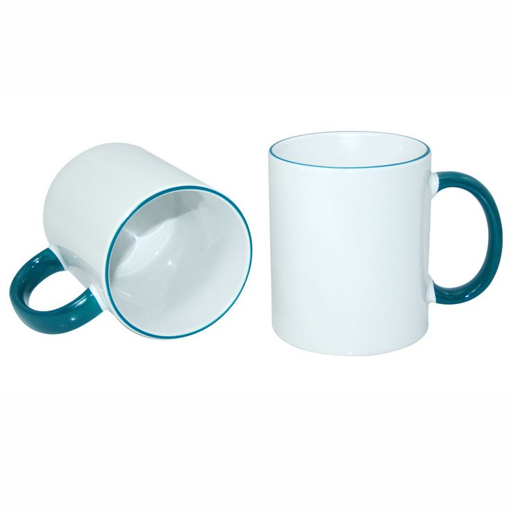 11oz Rim Handle Mug-Light Green
