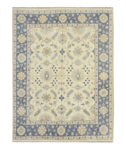 Oriental Hand Knotted Wool Yellow Blue Area Rug Wool Area Rugs Rugs Area Rugs
