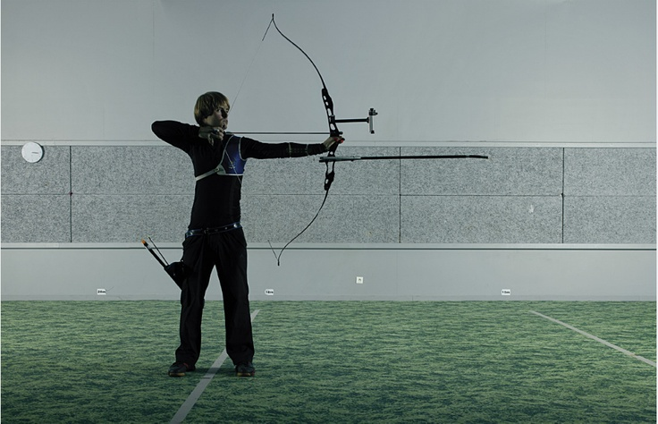 Olympic Recurve Target Archery in the fog