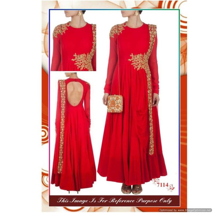 Latest Arrival Red Fancy Gown With Dupatta