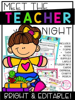 Kick off the year right with this newly updated Meet the Teacher Packet! It's all you need to help you organize your classroom as you prepare to meet your new students.