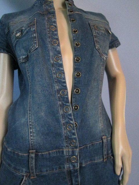 Vintage Denim Jumpsuit.  Blue Jean Jumpsuit by MISSVINTAGE5000