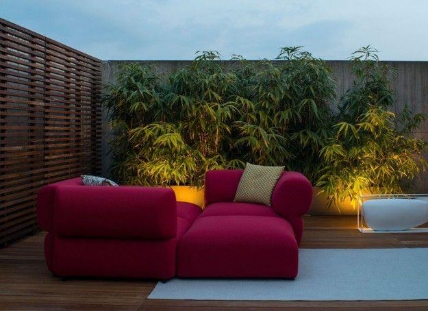 Progettare il giardino con piante ornamentali - Lo spazio esterno con piante ornamentali vicino agli arredi