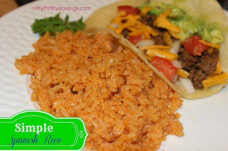 Simple Spanish Rice | Recipe | Spanish Rice, Spanish and Rice