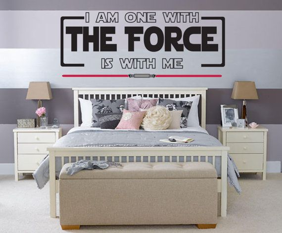 I Am One with The Force Double Lightsaber wall decal by JobstCo