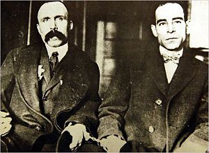 Ferdinando Nicola Sacco and Bartolomeo Vanzetti were anarchists who were convicted of murdering two men during a 1920 armed robbery in South Braintree, Massachusetts, United States. After a controversial trial and a series of appeals, the two Italian immigrants were executed on August 23, 1927. There is a highly politicized dispute over their guilt or innocence, as well as whether or not the trials were fair.