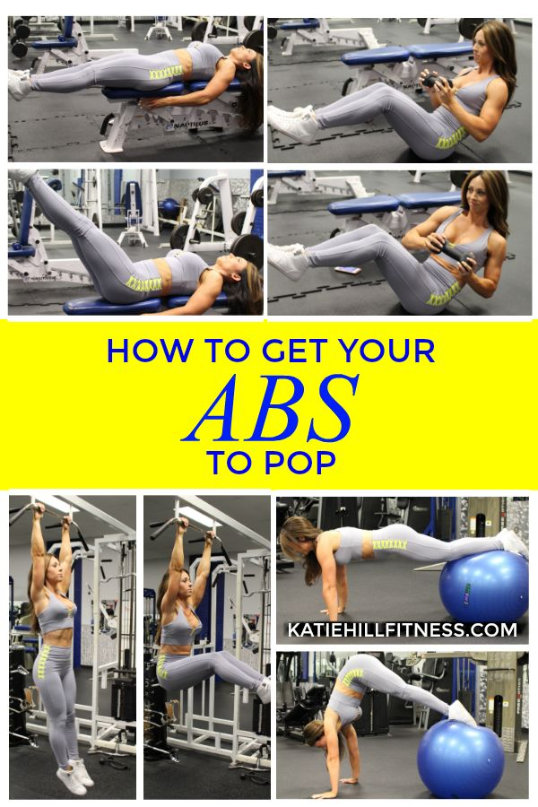 Want those abs to make an appearance? These are some of my favorite exercises for abs! I outline the perfect workouts in my NEW gym workout guide along with the sets and reps for each one! Grab one now!   www.katiehillfitness.com
