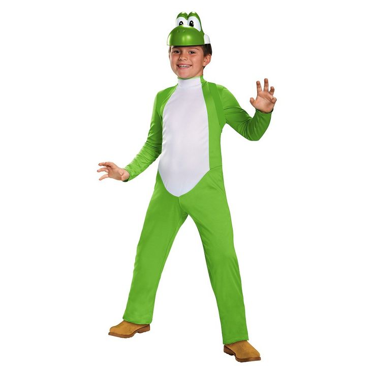 Super Mario Bros. Yoshi Boys' Costume - Large (10-12), Boy's, Size: L(10-12), Multicolored