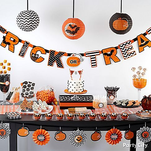 from scream to halloween dream this dessert table is anything but scary cute dcor - Halloween Birthday Decorations