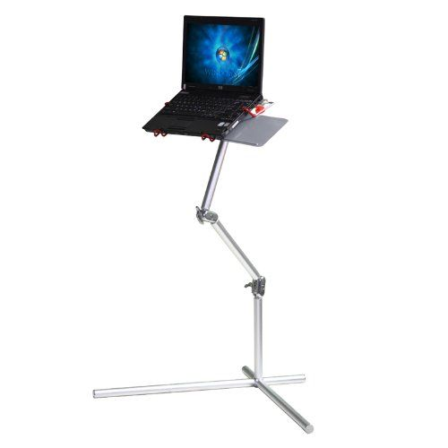 Koolertron New Silver Aluminum Nottable Laptop Universal 360 degrees Adjustable Stand foldable stand With mouse Pad Desk Table,fis for 10-17 inch laptop with maximum weight up to 15kg Koolertron,http://www.amazon.com/dp/B009QSJSRI/ref=cm_sw_r_pi_dp_npx6sb13X1TK74ED