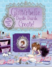 Glitterbelle : Doodle Dazzle Create : Activity Book Glitterbelle is a fun & friendly, shimmery & glittery, modern day princess. The easy-to-follow stories explore the world of Glitterbelle, her best friends, and pet dog Bob, as they attend school and practice wide-ranging hobbies such as singing, dressing up and baking – but with extra special sparkle! Glitterbelle's world is brought to life through stunning, elaborate, miniature sets, each skilfully created by hand.