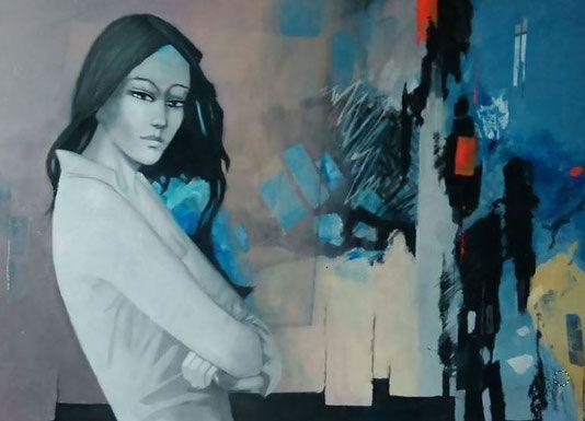 Pierre Chevassu / Belle / 100x73cm