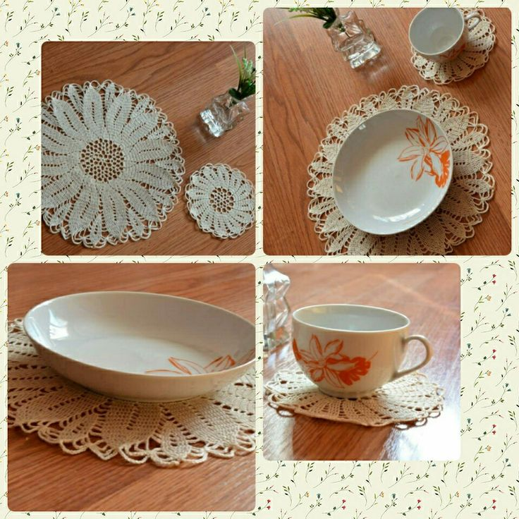 Crochet place setting