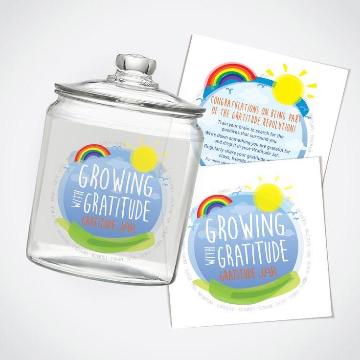 Gratitude Jar Sticker Labels (Front