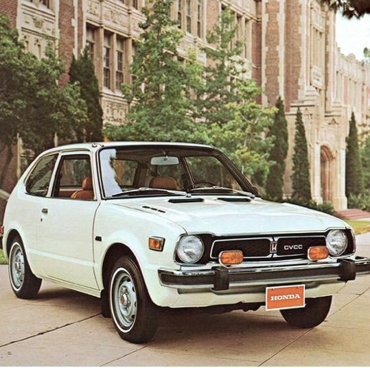 Honda Civic CVCC was one of the first Mass Produced Japanese cars sold in America in the early 1970's