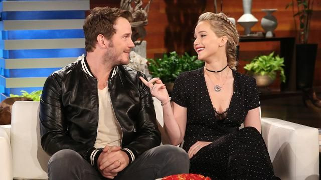 Jennifer Lawrence and Chris Pratt talk 'boob sweat' and her 'annoying' Cher impression.