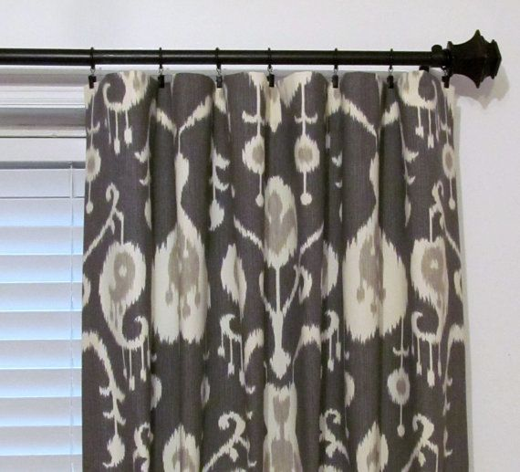 Exceptional Magnolia IKAT One Pair Drapery Panels Modern By Supplierofdreams, $159.00