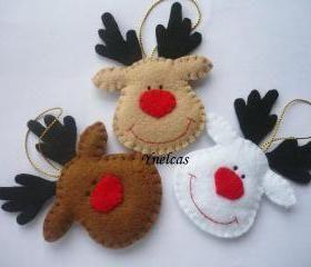 Felt Rudolph Christmas ornaments