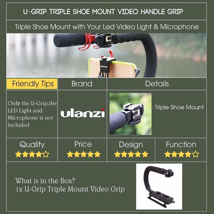 NEW Ulanzi U-Grip Triple Shoe Mount Video Action Stabilizing Handle Grip  IN STOCK Now!         The Professional U-Grip Stabilizing Action Grip allows you to hold your camera or Smartphone down low when filming skiing, snowboarding, skateboarding, auto racing, motocross, BMX/FMX and even when...  http://www.etproma.com/products/u-grip-triple-shoe-mount-video-action-stabilizing-handle-grip-rig-for-canon-sony-dslr-camerafor-iphone-7-plus-phone-smartphone/  #shopping #online