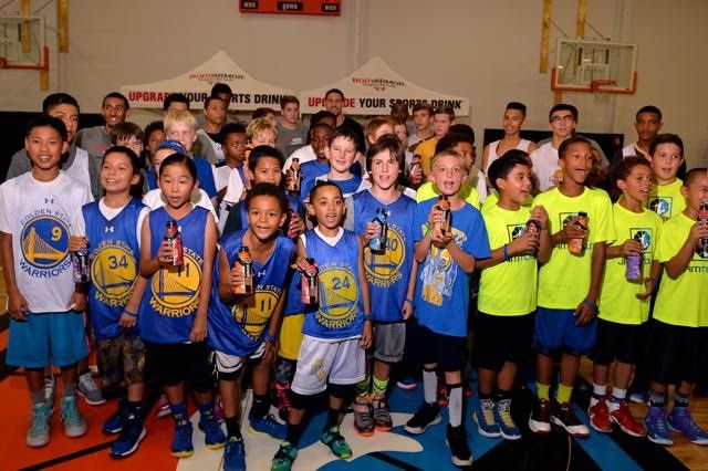 Klay Thompson Supports Youth at Basketball Clinic