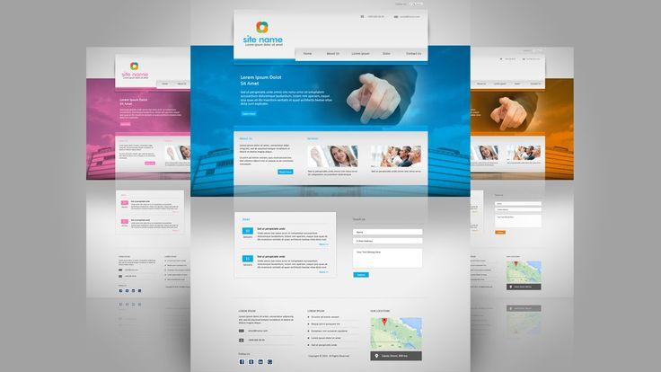 Create a Business Web Design In Photoshop