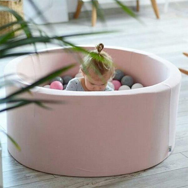 Ballenbad - ball pit - rond - roze - Misioo - incl 200 ballen #kidsroom #playtime #littlethingz2