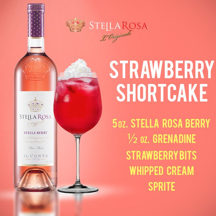 Stella Rosa original recipe: Stella Rosa Strawberry Shortcake
