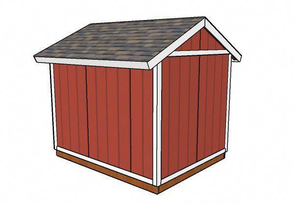810 Shed Plans Back View