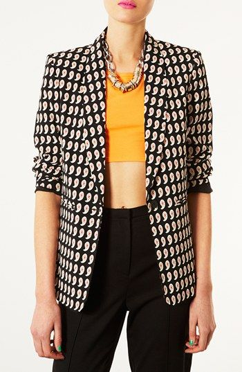 80s style: Topshop paisley blazer