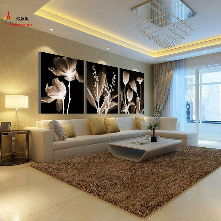 Cheap canvas factory, Buy Quality canvas acrylic art directly from China canvas black art Suppliers: 3 Panel Canvas Painting Decoracion Modular Picture Quadro Mural Wall Pictures For Living Room HD Print Flowers Pintura K303X
