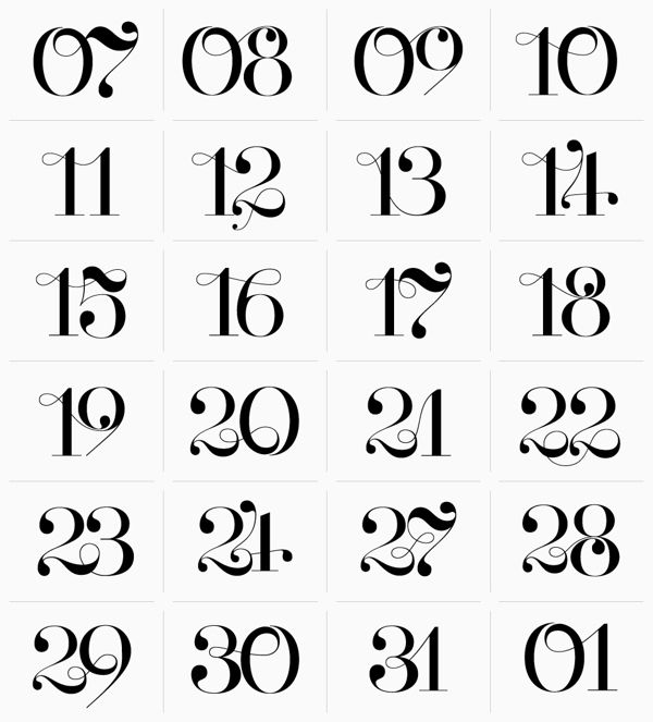 Best images about calligraphy numbers on pinterest