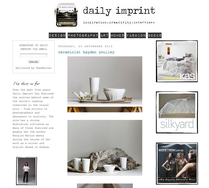 Paper Series featured on Daily Imprint