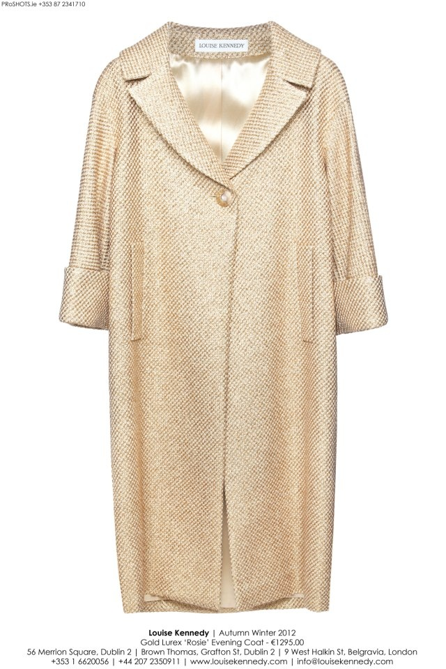 The Louise Kennedy AW12 Rosie Gold Lurex Coat