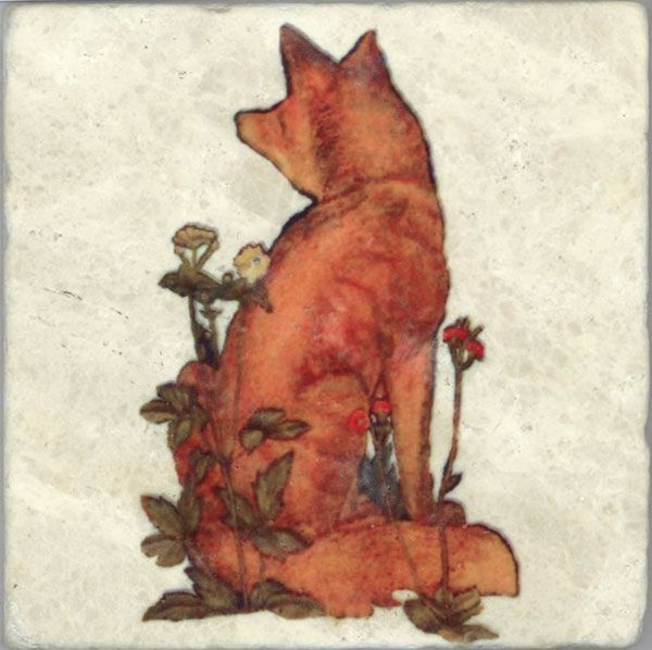 The Fox - by William Morris  #art #illustration