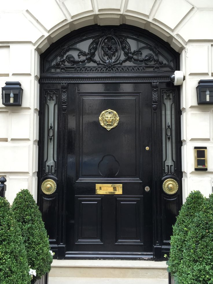 Gorgeous glossy black door I took a photo of on a recent trip to London.