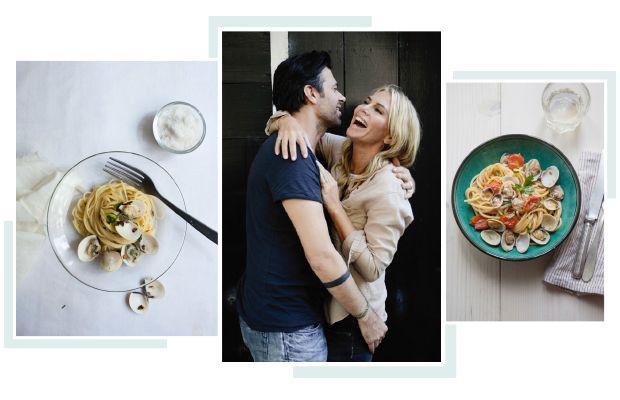 Dit is 'mdan: mijninmiddels beroemde spaghetti vongole. Met dit gerecht heb ik namelijk mijn man Sergio Herman veroverd. Nou ja, het heeft een beetje geholpen denk ik.