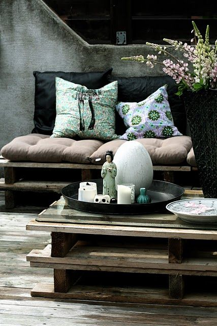 ♂ Masculine looking interior Mix and match ! Lovely colors and textures.