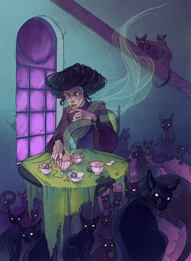 Cat Cafe by MadLittleClown