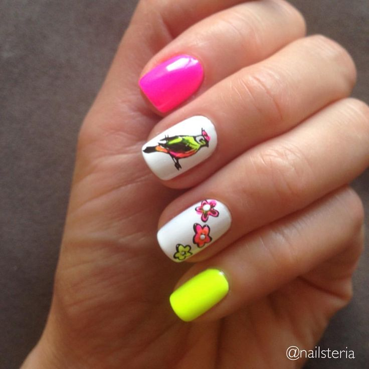 Neon nails. Stamping Born Pretty BP-l019