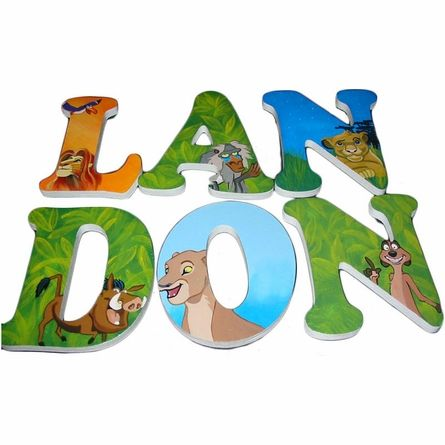 Landon Lion King Hand Painted Wall Letters
