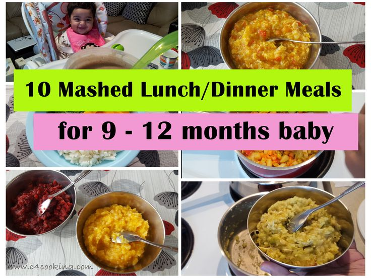 10 Mashed Meals for 9-12 months baby..